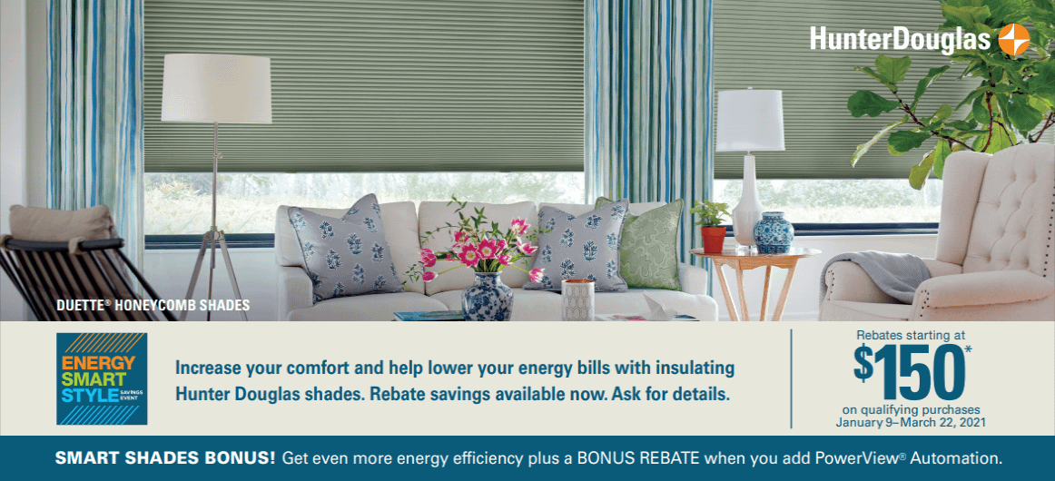Current Hunter Douglas Special January 9 - March 22, 2021
