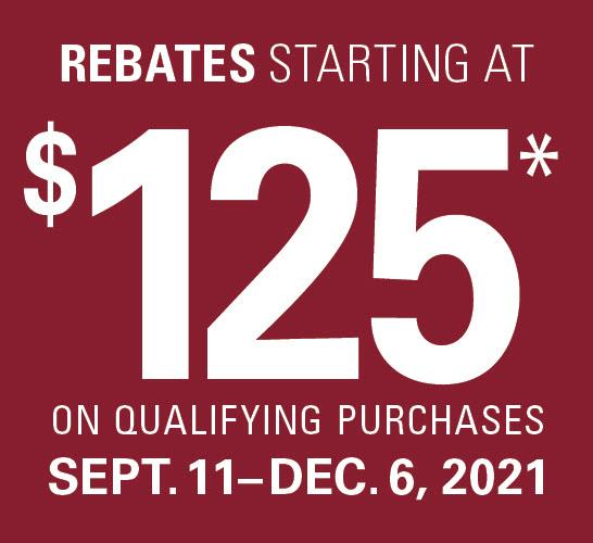 rebates starting at $125 tag