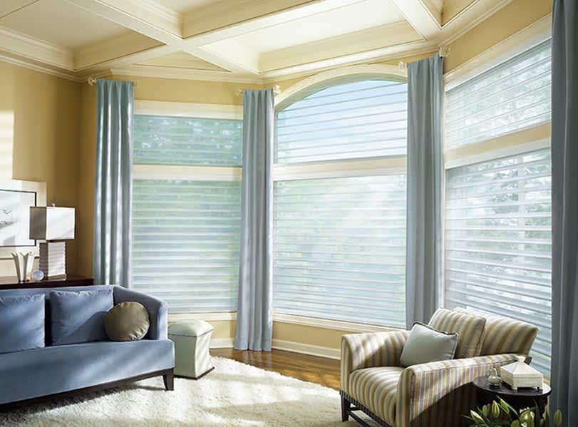 Hunter Douglas Silhouette Blinds in Living Room